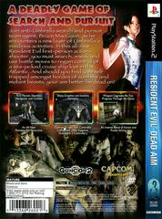 Back Cover | Resident Evil Dead Aim Playstation 2