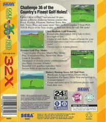 Golf Magazine Presents - Back   Golf Magazine Presents 36 Great Holes Starring Fred Couples Sega 32X