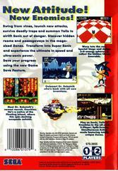 Back Cover | Sonic the Hedgehog 3 Sega Genesis