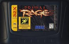 Primal Rage - Cartridge | Primal Rage Sega 32X