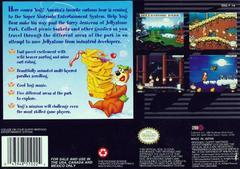 Adventures Of Yogi Bear - Back | Adventures of Yogi Bear Super Nintendo