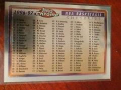 Checklist Refractor Basketball Cards 1996 Topps Chrome Prices
