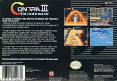 Contra III The Alien Wars - Back   Contra III The Alien Wars Super Nintendo