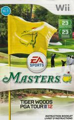 Manual - Front | Tiger Woods PGA Tour 12: The Masters Wii