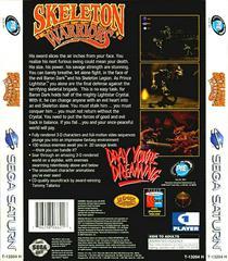 Back Of Case | Skeleton Warriors Sega Saturn