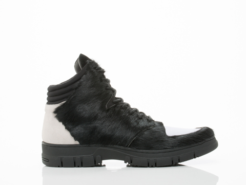 1 900 In Black Pony White Suede False Mens