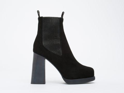 Acne Studios In Black Flaire Suede