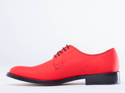 Acne Studios In Siren Red Griffith Rubber Mens