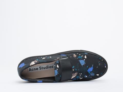 Acne Studios In Terazzo Blue Black Hans Terrazzo Mens