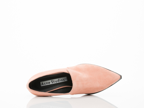 Acne Studios In Powder Pink Suede Jaycee