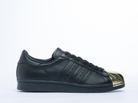 dbklt Adidas Blue Superstar 80s Metal Toe in Black Gold at Solestruck.com