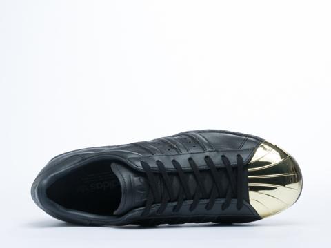 Adidas Blue In Black Gold Superstar 80s Metal Toe