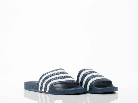 Adidas Originals In Blue White Blue Adilette