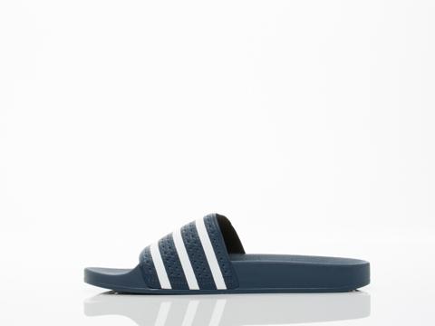 Adidas Originals In Blue White Blue Adilette Mens