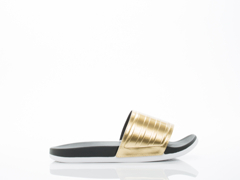 Adidas Originals In Black Gold White Adilette SC Plus Gold Womens