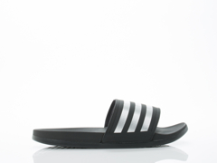 Adidas Originals In Black Silver Black Adilette SC Plus Silver Mens
