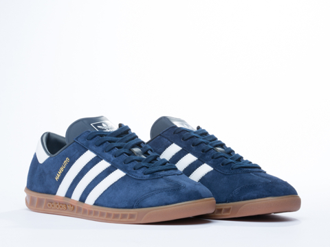 Adidas Originals In Navy White Gold Hamburg Mens