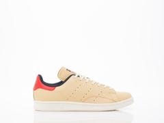 Adidas Originals In Beige Red White Stan Smith Fourness Womens