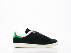 Adidas Originals In Black Black White Fur Stan Smith Fourness Womens