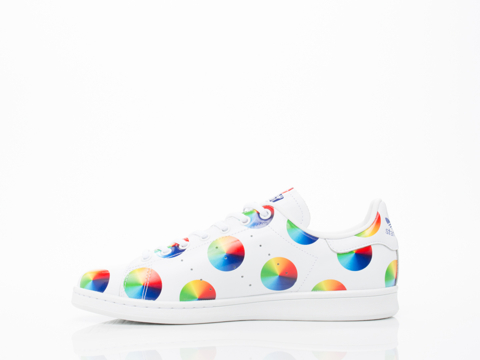 Adidas Originals In Big Dot White Rainbow Stan Smith Mens