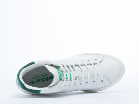Adidas Originals In White Vapor Stan Smith Up