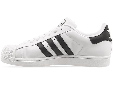Adidas Originals In White Black White Superstar 2