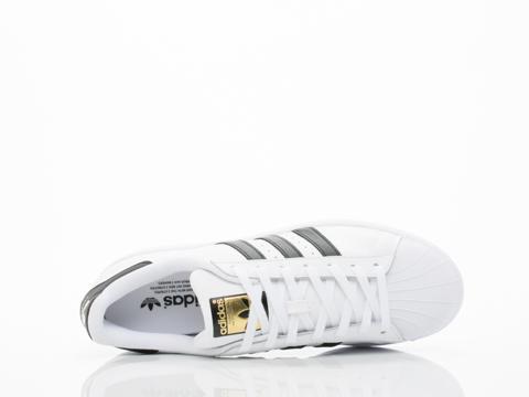 Adidas Originals In White Black White Superstar Mens