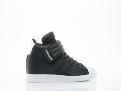 Adidas Originals In Black Black White Superstar Up Strap Womens