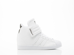 Adidas Originals In White White Black Superstar Up Strap Womens