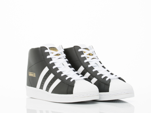 Adidas Originals In Black White Gold Superstar Up Womens