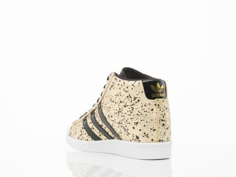 Adidas Originals In Gold Black White Superstar Up Womens