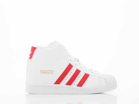 Adidas Originals In White Scarlet Gold Superstar Up Womens