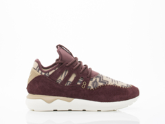 Adidas Originals In Red Hemp White Tubular Moc Runner Womens