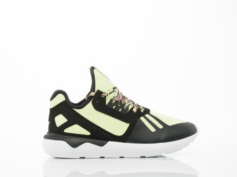 Adidas Originals In Black Yellow Tubular Runner
