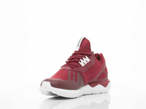 Adidas Originals In Burgundy White Tubular Runner