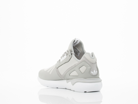 Adidas Originals In Grey White Tubular Runner