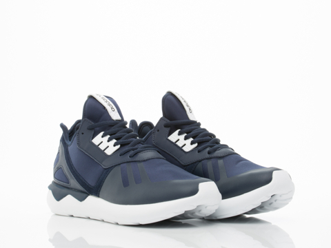 Adidas Originals In Navy White Tubular Runner