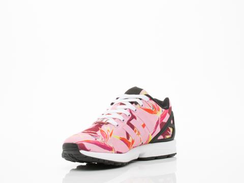 Adidas Originals In Light Pink Floral ZX Flux