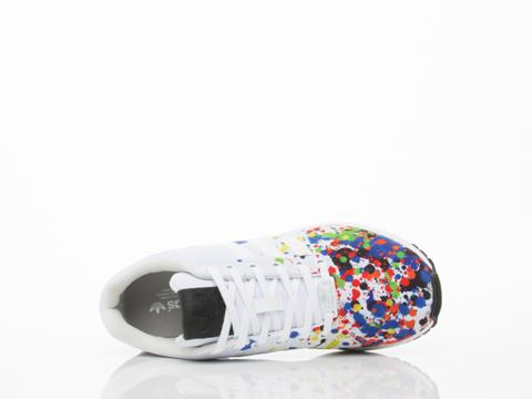 Adidas Originals In White Multi Splatter ZX Flux