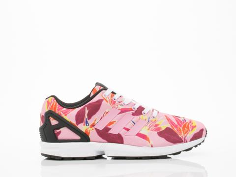 Adidas Originals In Light Pink Floral ZX Flux Mens