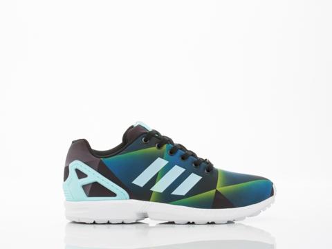 Adidas Originals In White Aqua Black ZX Flux Mens