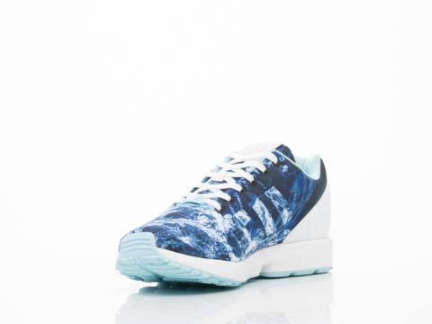 Adidas Originals In White Blush Blue Black ZX Flux Mens