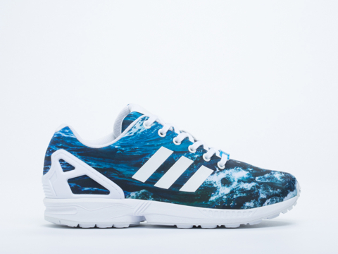 competitive price daaff e2dc0 Adidas Zx Flux Blue White