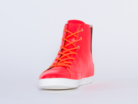 Adidas SLVR In Infrared Chalk 2 Core Mid Mens