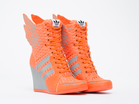 Adidas X Jeremy Scott In Supplier Color Silver Athletic Wings Wedge