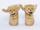 Adidas X Jeremy Scott In Gold Bear Womens