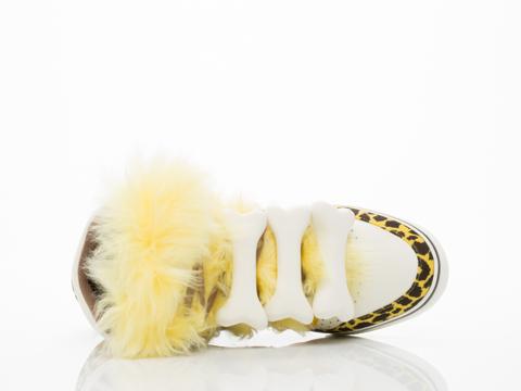 Adidas X Jeremy Scott In Gold Mesa Bones Fur Mens