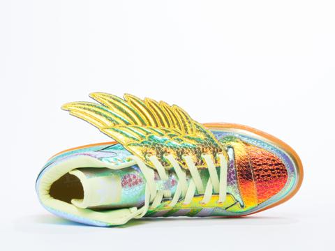Adidas X Jeremy Scott In Metallic Gold Foil Foil Wing
