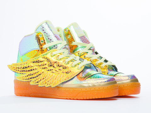 Adidas X Jeremy Scott In Metallic Gold Foil Foil Wing Mens