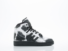 Adidas X Jeremy Scott In Black White Instinct Hi G Leo Womens